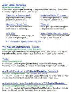 Aigen Digital Marketing en Google