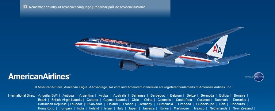 American Airlines Marketing Digital