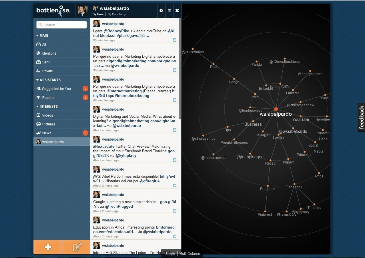 Tools for twitter: Bottlenose and your followers