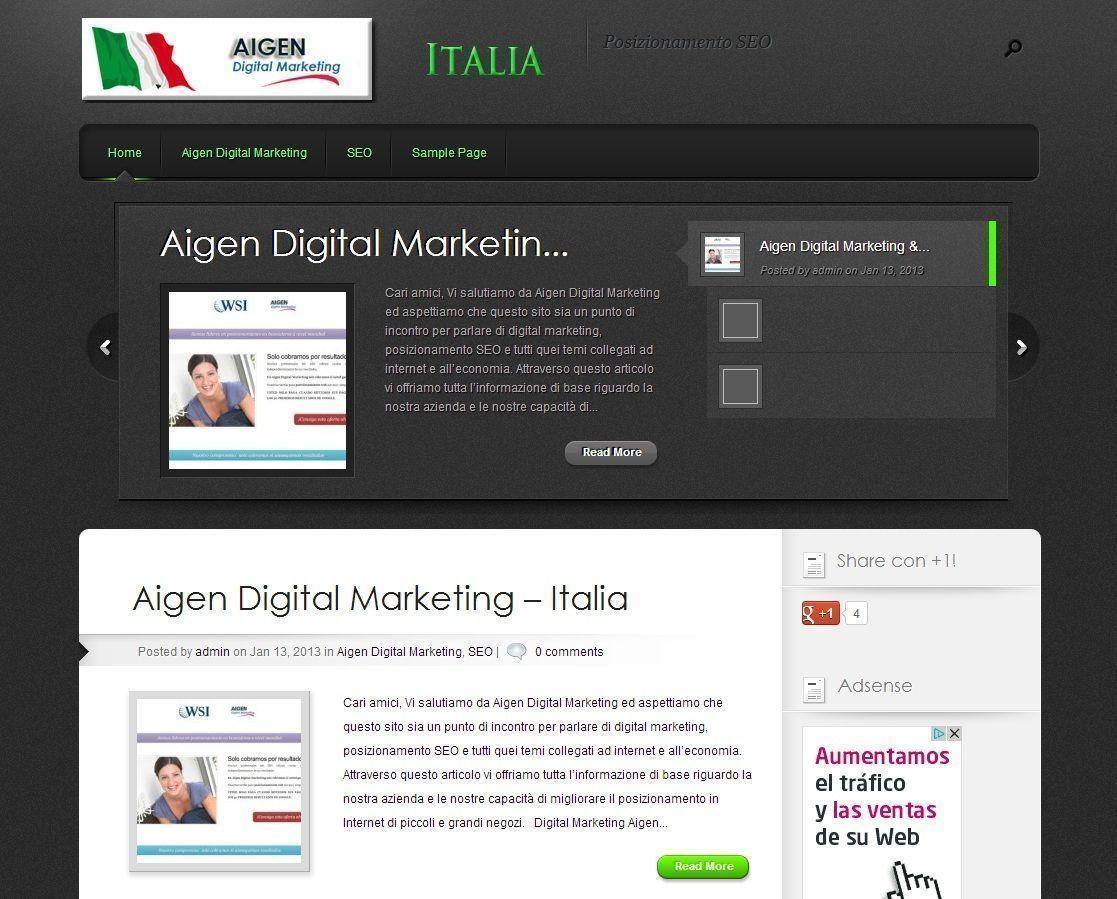 Aigen Digital Marketing in Italian